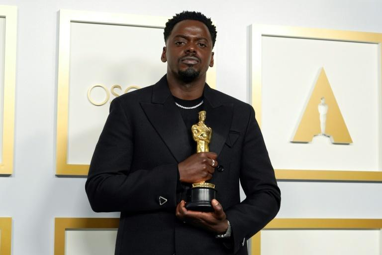"British actor Daniel Kaluuya won the first acting Oscar of the night, for best supporting actor for ""Judas and the Black Messiah"""