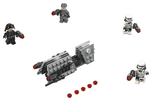 The newly introduced vehicles could be an early prototype of the speeder bikes from <i>Return of the Jedi</i>. (Photo: Lego)