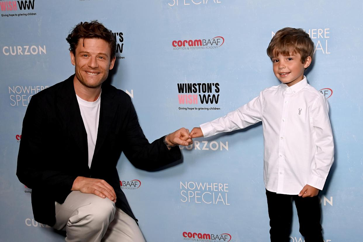 LONDON, ENGLAND - JULY 06: James Norton and Daniel Lamont attend the
