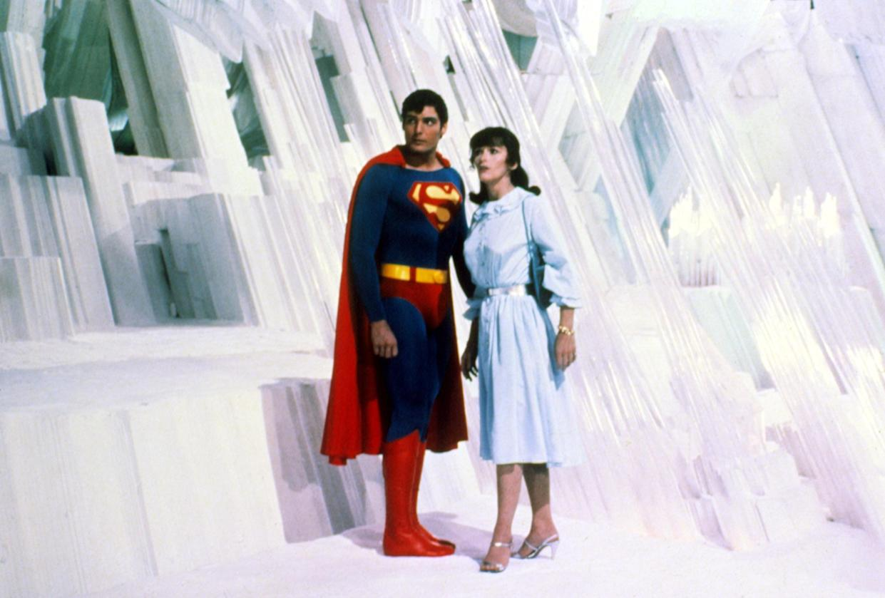Superman (Christopher Reeve) and Lois Lane (Margot Kidder) seek refuge in the Fortress of Solitude in 'Superman II' (Photo:  Courtesy Everett Collection)