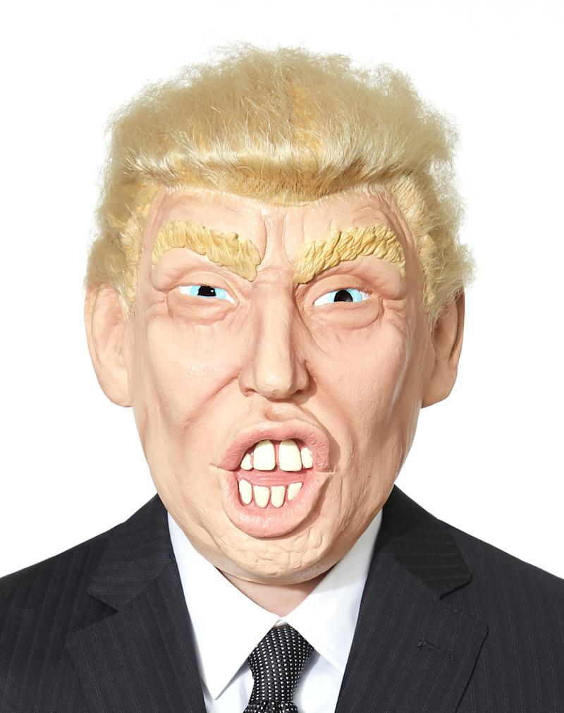 "Frankly, this <a href=""http://www.spirithalloween.com/product/loud-mouth-candidate-mask/124803.uts?relationType=recentlyViewed&thumbnailIndex=1&Search=Find+It"" target=""_blank"">Donald Trump mask</a> is gross, tacky, horrifying ugly and repulsive to look at. Yep, it's a perfect match for the candidate. ($29.99, SpiritHalloween.com)"