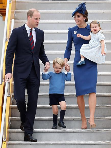 Prince William, Princess Kate, Prince George and Princess Charlotte arrive at the Victoria Airport.