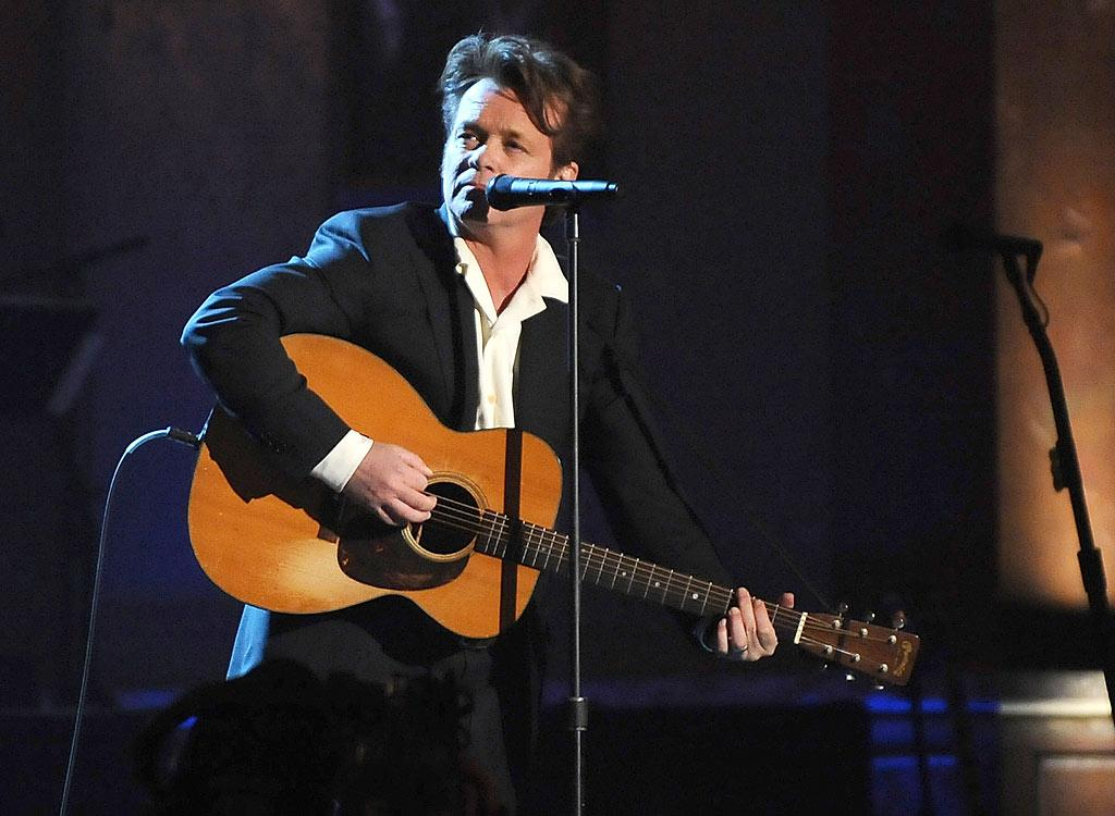 "Heartland rocker John ""Don't Call Me Cougar"" Mellencamp performs ""Authority Song"" during the star-studded ceremony. Dimitrios Kambouris/<a href=""http://www.wireimage.com"" target=""new"">WireImage.com</a> - March 10, 2008"