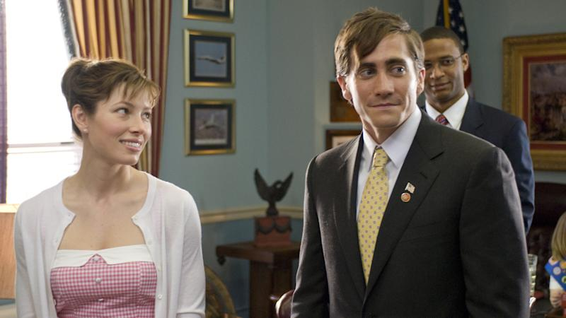 Jessica Biel and Jake Gyllenhaal star in 'Accidental Love'. (Credit: Millennium Entertainment)