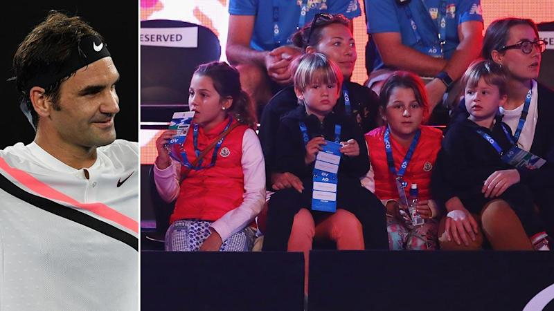 Federer opens up on four kids' love of tennis