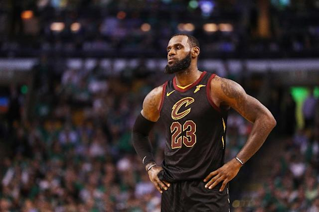LeBron James of the Cleveland Cavaliers was named to the 12th All-NBA First Team in a unanimous vote along with Houston Rockets leading scorer James Harden (AFP Photo/Maddie Meyer)