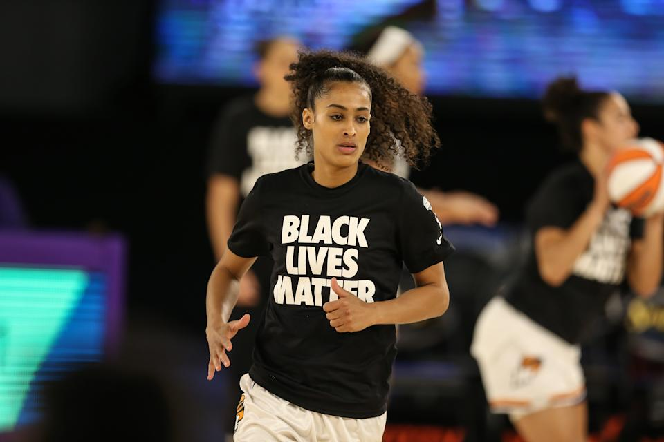 Puma basketball athlete Skylar Diggins-Smith said the Fusion Nitro and DREAMER 2 are her go-to sneakers this season. (Photo by Jevone Moore/Icon Sportswire via Getty Images)