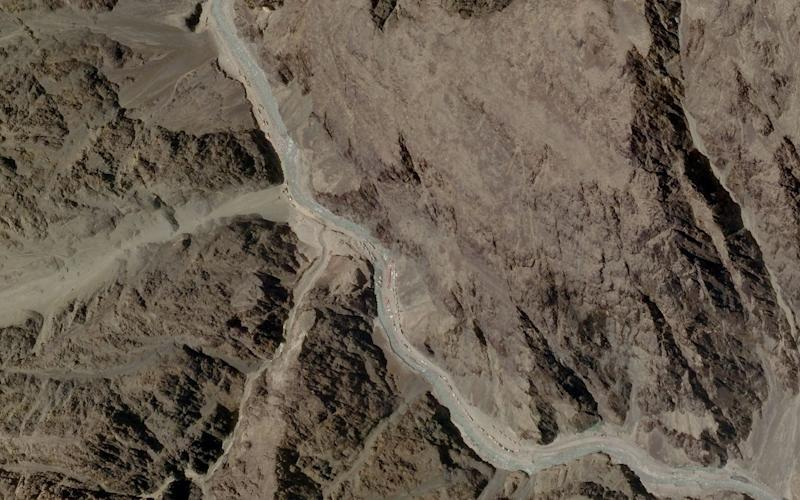 A satellite image taken over Galwan Valley in Ladakh - REUTERS
