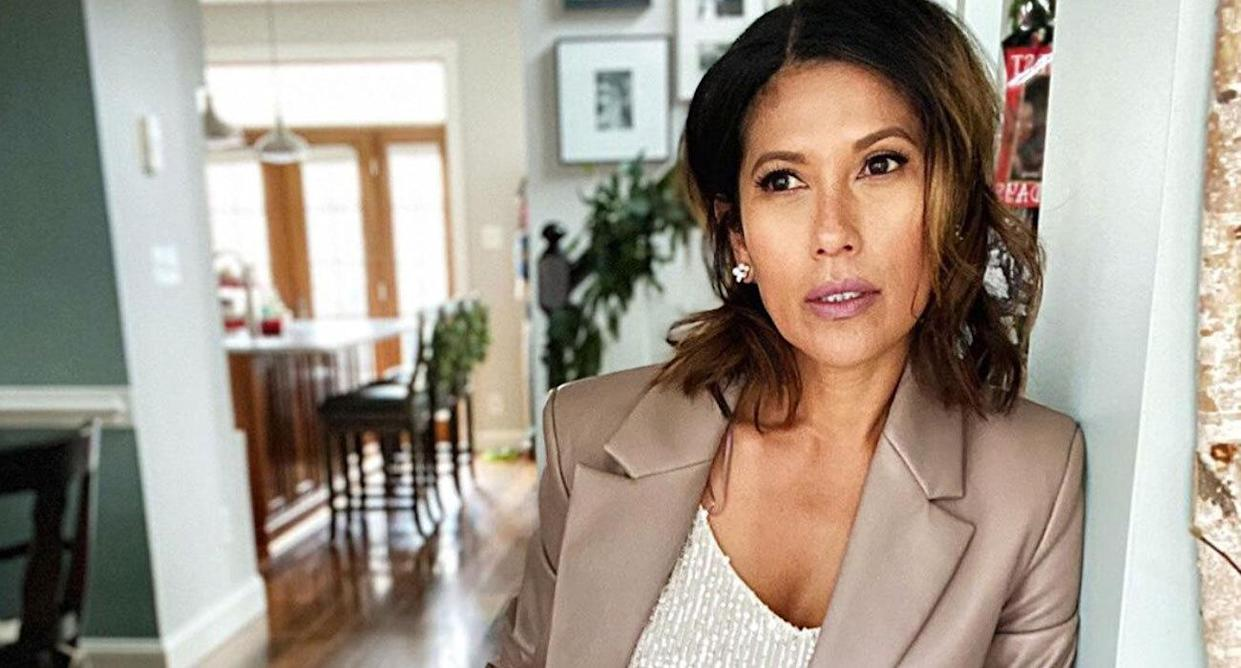Influencer and style blogger Isabella Thorp, 53, shares her favorite date night makeup routine. (Photo: Isabella Thorp)