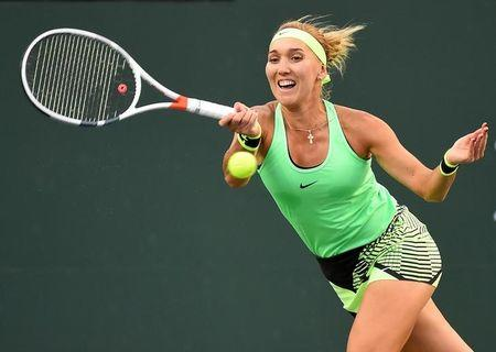 Mar 16, 2017; Indian Wells, CA, USA; Elena Vesnina (RUS) as she defeated Venus Williams (not pictured) in the quarter final match in the BNP Paribas Open at the Indian Wells Tennis Garden. Jayne Kamin-Oncea-USA TODAY Sports