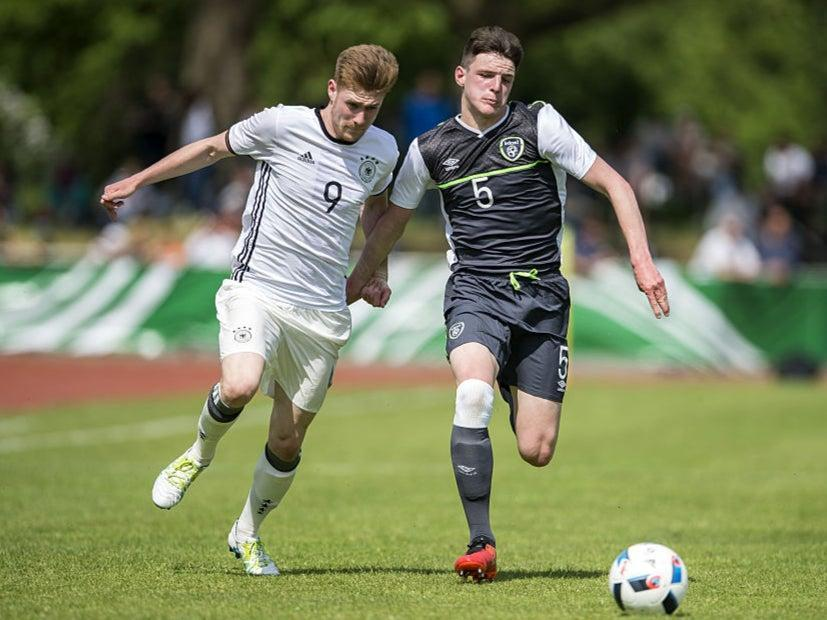 Declan Rice in action for Ireland's U18s in 2016 (Bongarts/Getty Images)