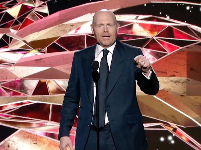 <p>Bill Burr roasted for mispronouncing singer's name at Grammys as he says feminists 'going nuts' over appearance</p> (Getty Images)