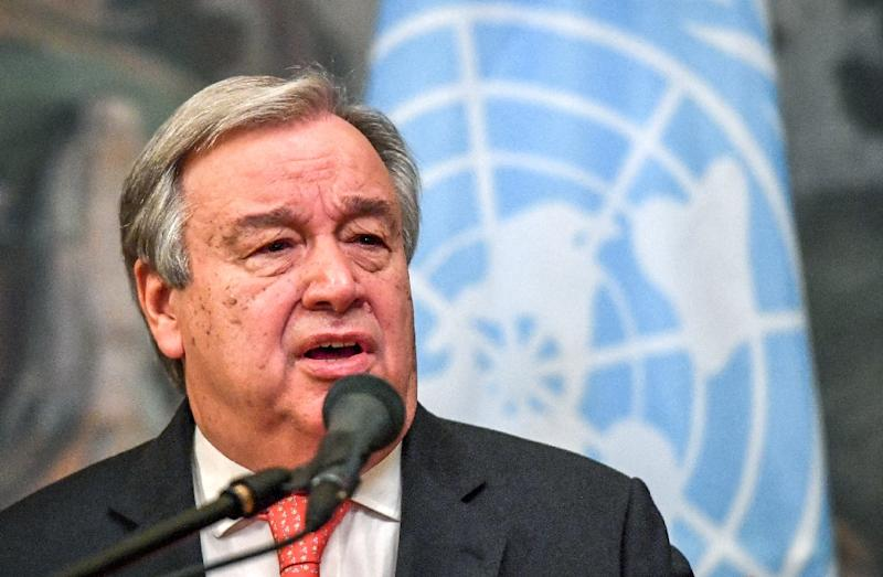 "UN Secretary-General Antonio Guterres called on ""all parties"" in Mauritania to contribute to ""peaceful and credible elections"" (AFP Photo/Yuri KADOBNOV)"