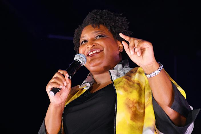 Stacey Abrams speaks at Bustle's 2019 Rule Breakers Festival at LeFrak Center at Lakeside on September 21, 2019 in Brooklyn, New York.