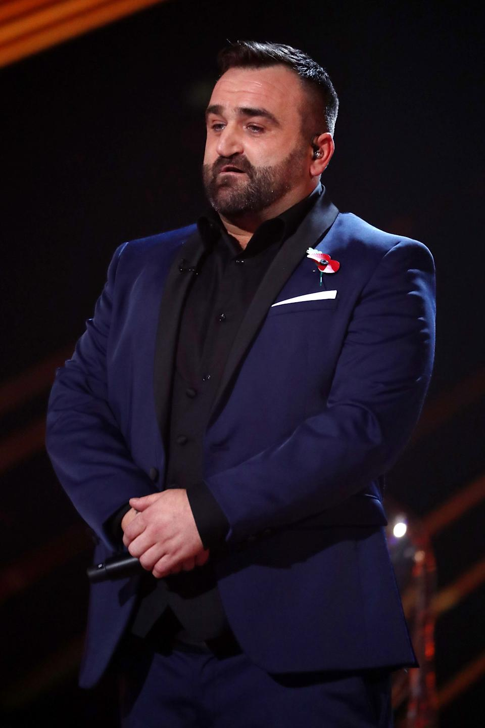 Danny Tetley on The X Factor in 2018 (Photo: Dymond/Thames/Syco/Shutterstock)