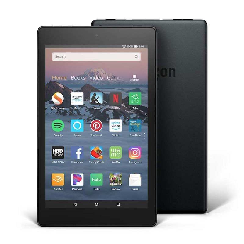 The Fire 8 is great for watching videos and reading Kindle e-books. (Photo: Amazon)