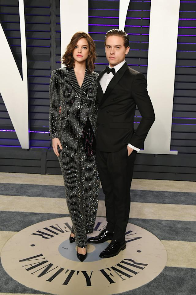 <p>Barbara, in Giorgio Armani, and Dylan, in Emporio Armani, know how to stun on the red carpet.</p>