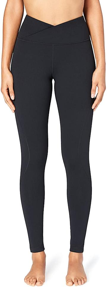 """<p>We love the unique waistband of these <product href=""""https://www.amazon.com/Core-10-Womens-Build-Your/dp/B072BKZ23C/ref=sr_1_1?dchild=1&amp;qid=1601918167&amp;refinements=p_89%3ACore+10&amp;s=apparel&amp;sr=1-1"""" target=""""_blank"""" class=""""ga-track"""" data-ga-category=""""internal click"""" data-ga-label=""""https://www.amazon.com/Core-10-Womens-Build-Your/dp/B072BKZ23C/ref=sr_1_1?dchild=1&amp;qid=1601918167&amp;refinements=p_89%3ACore+10&amp;s=apparel&amp;sr=1-1"""" data-ga-action=""""body text link"""">Core 10 'Build Your Own' Yoga Pant Full-Length Leggings</product> ($44).</p>"""