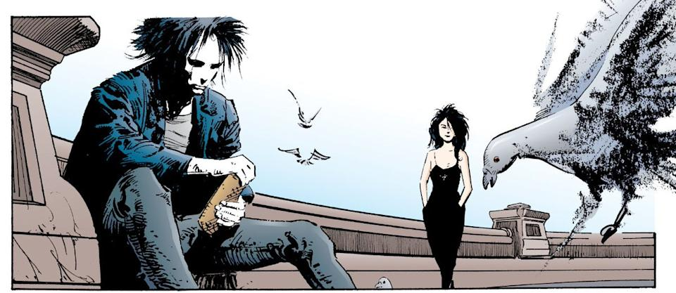 Morpheus and Death in 'The Sound of Her Wings' (Photo: DC Comics)
