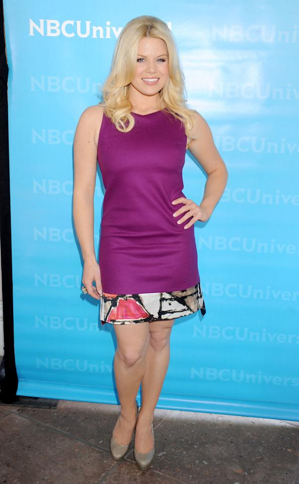"Megan Hilty (""<a href=""http://tv.yahoo.com/smash/show/47403"">Smash</a>"") arrives at NBC Universal's 2012 Summer Press Day at The Langham  Huntington Hotel and Spa on April 18, 2012 in Pasadena, California."