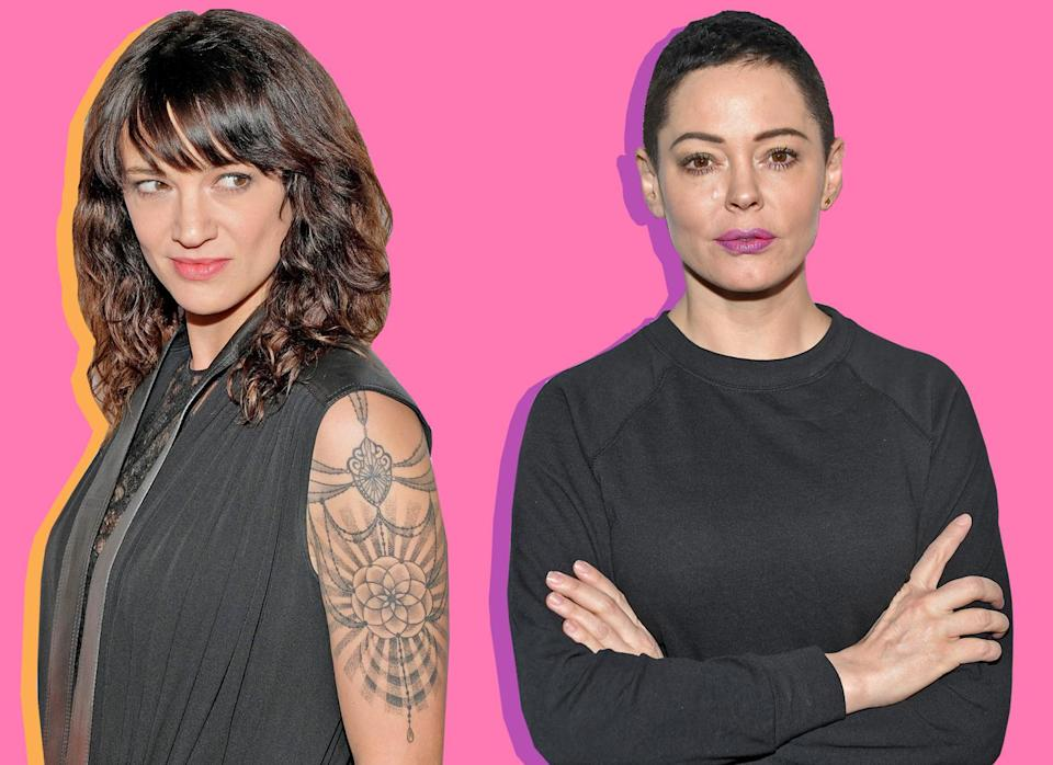 Asia Argento, left, has received an apology from Rose McGowan, but she still doesn't seem fully satisfied with it. (Photo: Getty Images)