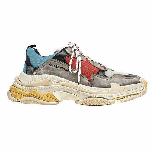 <p>The 'Triple S' sneaker is leaving people divided. A far cry from the normal dazzling white and squeaky clean exterior one would expect from a fresh pair of kicks. Instead, the rather pricey $995 pair look like they've seen better days.</p>