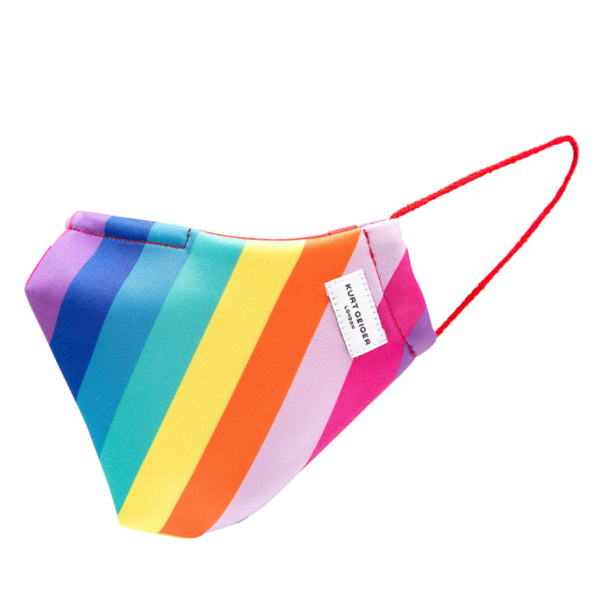 Kurt Geiger 'Rainbow' Face Mask (Photo via Nordstrom)