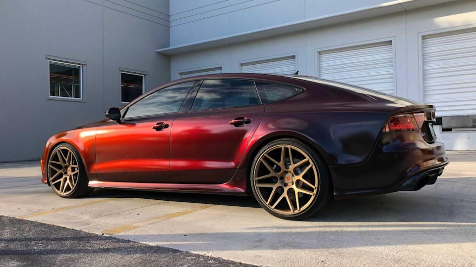 Audi RS7 Red To Black HyperShift Color Shift Dip