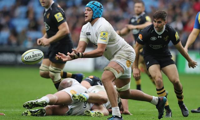 "<span class=""element-image__caption"">Bath's Zach Mercer helped keep Wasps at bay on Sunday.</span> <span class=""element-image__credit"">Photograph: David Rogers/Getty Images</span>"