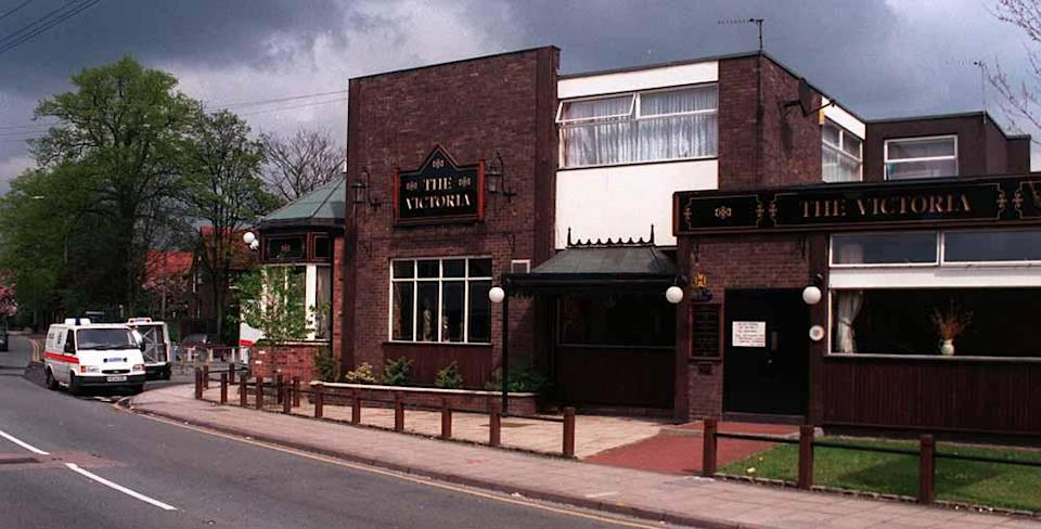 The Victoria Tavern in Bramhall, where Rachel McGrath was stabbed to death by Nicholas Burton. PA REAL LIFE