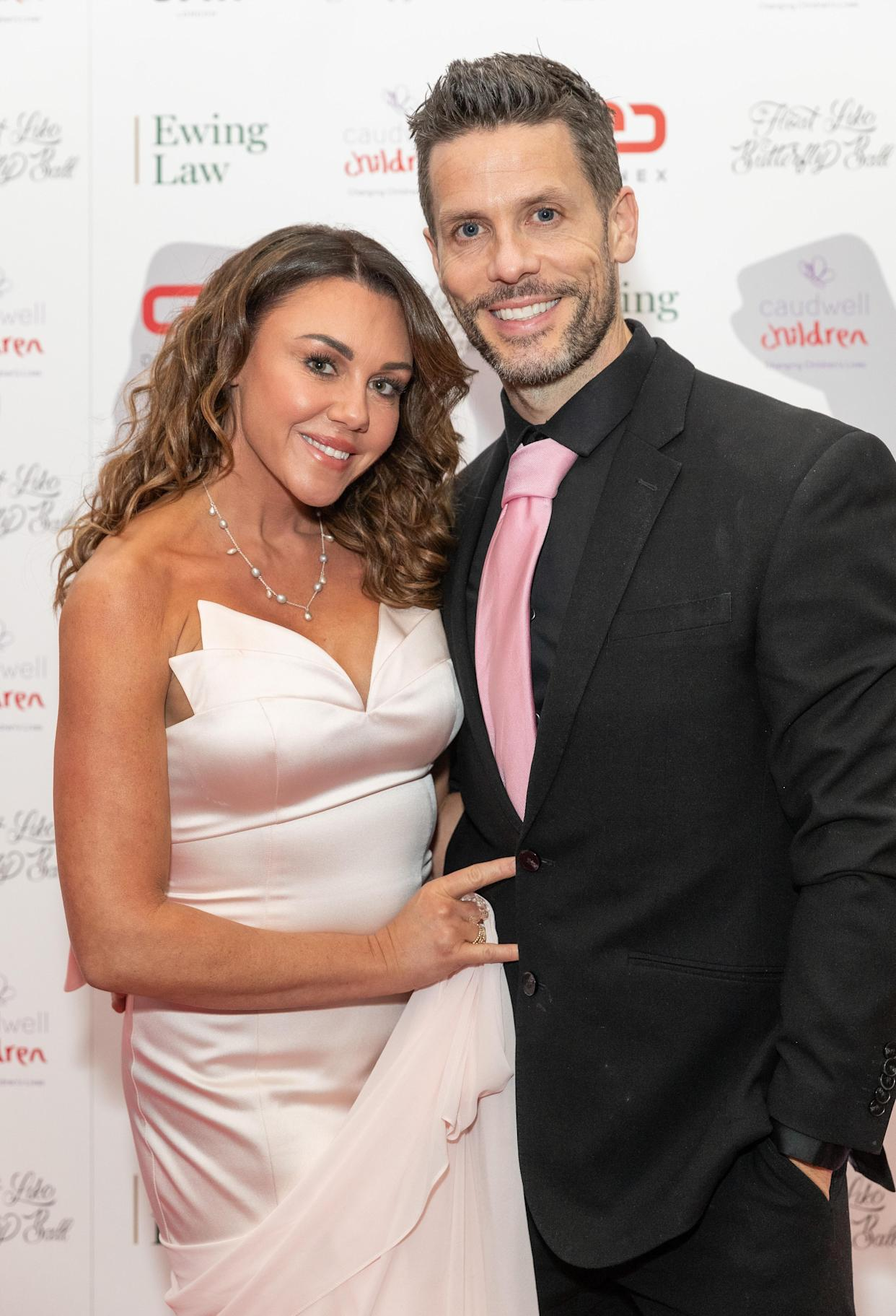 LONDON, ENGLAND - NOVEMBER 16: Michelle Heaton and Hugh Hanley attend the Float Like A Butterfly Ball in aid of Caudwell Children at The Grosvenor House Hotel on November 16, 2019 in London, England. (Photo by David M. Benett/Dave Benett/Getty Images)