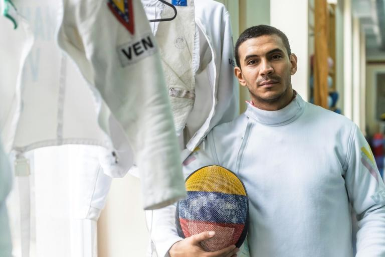 Ruben Limardo won Olympic gold for Venezuela in 2012 but now has to make ends meet in his adopted home of Poland by delivering food