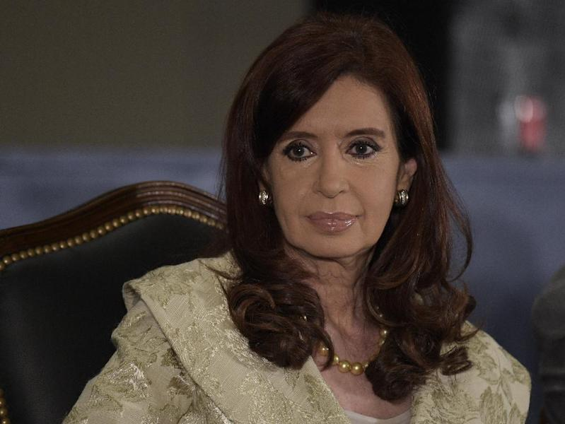 Argentina's President Cristina Fernandez de Kirchner in Buenos Aires on August 20, 2014 (AFP Photo/Juan Mabromata)