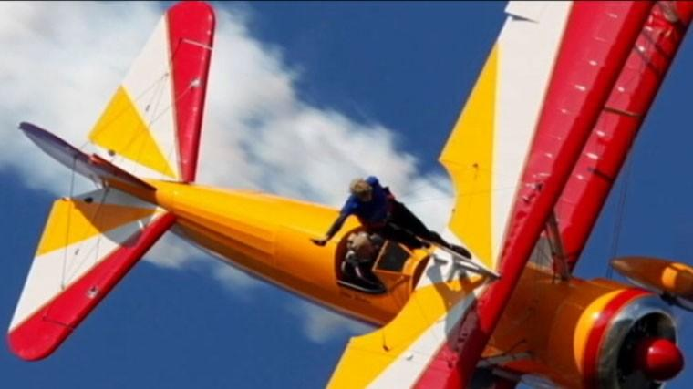 Plane carrying wing walker crashed at Vectren Air Show in Dayton, Ohio.