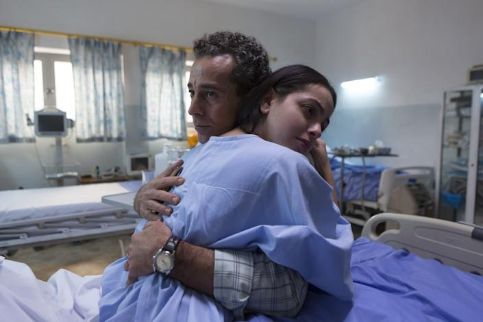 "Waleed Zuaiter as Muhsin Khafaji, the protagonist of ""Baghdad Central,"" with July Namir, who plays Khafaji's daughter, Mrouj. <span class=""copyright"">(Sife Elamine / Fremantle)</span>"