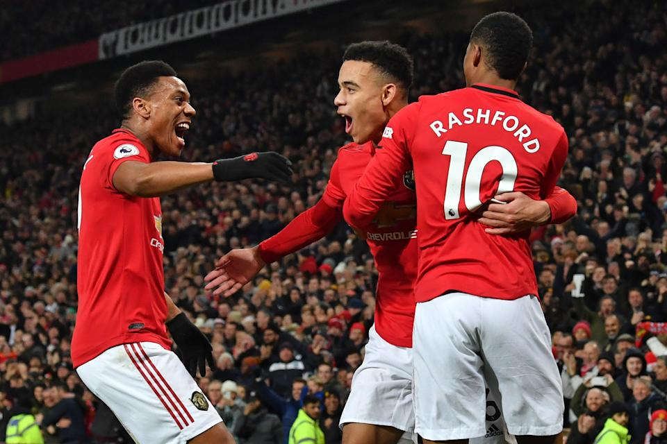 The arrival of Cavani could unsettle United's front three of Martial, Greenwood and Rashford (AFP via Getty Images)