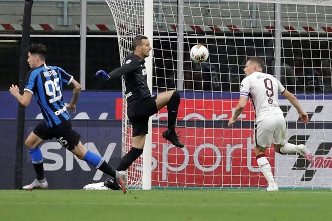 Inter beats Torino 3-1, moves into 2nd place in Serie A