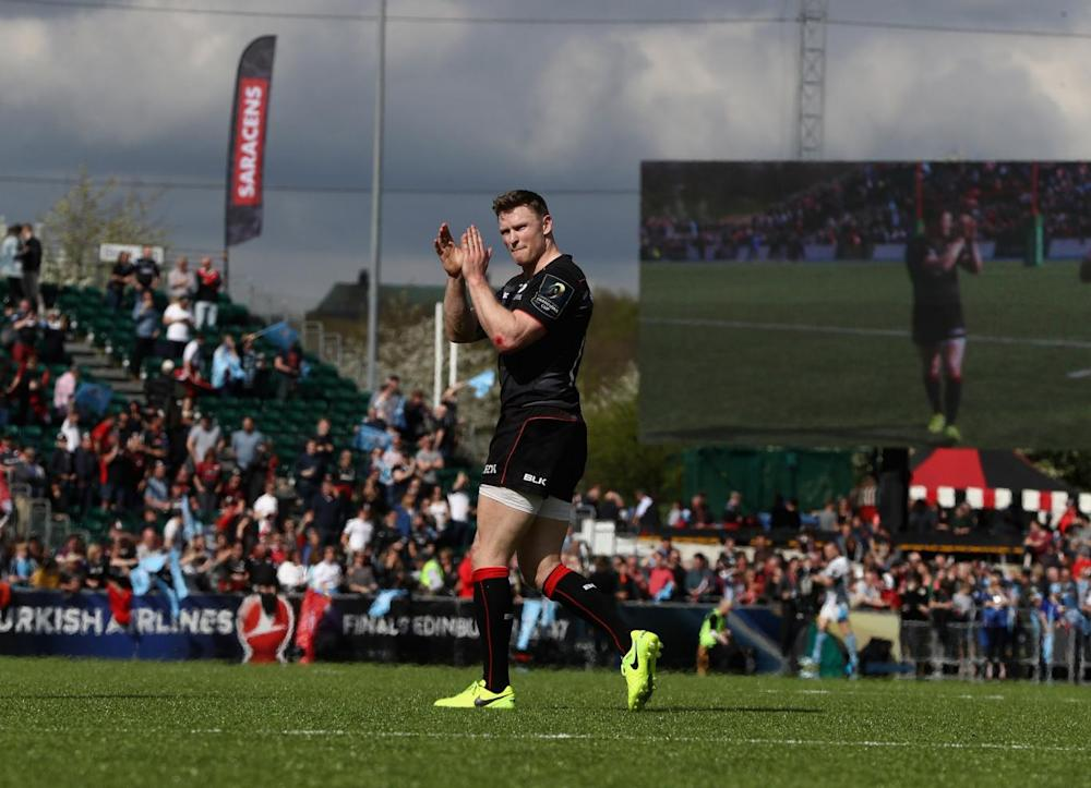 Chris Ashton matched Vincent Clerc's record of 36 European tries (Getty)
