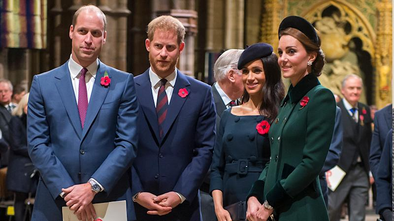 Prince William, Prince Harry, Meghan Markle and Kate Middleton pose for photos together