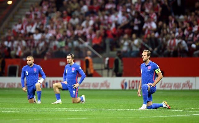 England have been taking the knee before matches in an anti-discrimination gesture.