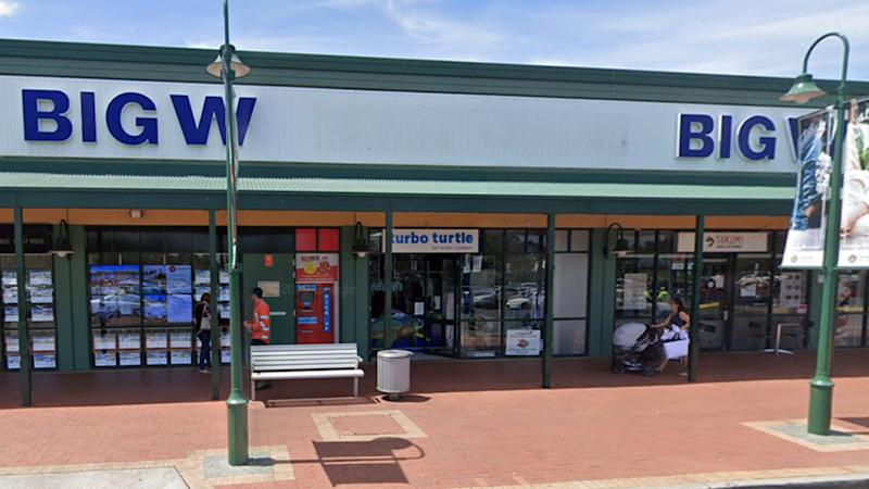 Pictured is the Big W sign in front of Carnes Hill Marketplace.