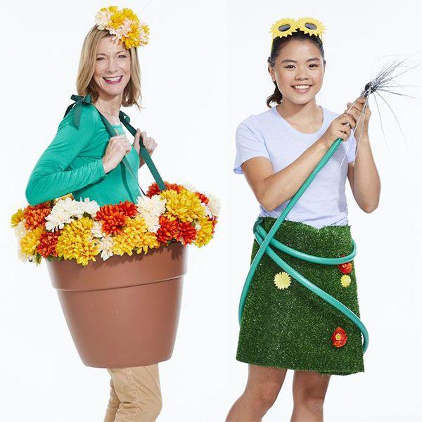 """<p>Halloween may mean that fall foliage is in full swing, but you can give a nod to spring time with these blooming and vibrant costumes. </p><p><em>Get the tutorial for <a href=""""https://www.womansday.com/life/a29103620/bloom-mom/"""" target=""""_blank"""">Bloom Mom</a> and <a href=""""https://www.womansday.com/life/a29103669/lawn-girl/"""" target=""""_blank"""">Lawn Girl</a>.</em></p><p><strong>What you'll need: </strong><a href=""""https://www.amazon.com/Bloem-Terra-Pot-Planter-Cotta/dp/B003IP99C4/ref=sr_1_3?keywords=20+inch+plastic+planter&qid=1570219818&sr=8-3"""" target=""""_blank"""">Plastic flower pot</a> ($19, Amazon); <a href=""""https://www.amazon.com/Juvale-Artificial-Flower-Heads-Decorations/dp/B07BMQ5393/ref=sxts_kp?keywords=fake+flowers&pd_rd_i=B07BMQ5393&pd_rd_r=a0be28b7-0ff7-4546-8638-85e5404a5e46&pd_rd_w=mf4Ku&pd_rd_wg=mtX5w&pf_rd_p=81d99bd4-f902-4b23-8928-b05d50fd5b3c&pf_rd_r=263YB3GTJ0BNJG5MWS3H&qid=1570219871"""" target=""""_blank"""">fake flowers</a> ($13, Amazon); <a href=""""https://www.amazon.com/Creative-Ideas-Grosgrain-50-Yard-Emerald/dp/B00K0FYPDI/ref=sr_1_5?keywords=grosgrain+ribbon&qid=1570219893&s=home-garden&sr=1-5"""" target=""""_blank"""">grosgrain ribbon</a> ($12, Amazon); <a href=""""https://www.amazon.com/Ottomanson-Evergreen-Collection-Outdoor-Artificial/dp/B01AINQMTQ/ref=sr_1_5?keywords=artificial+turf&qid=1570219916&s=home-garden&sr=1-5"""" target=""""_blank"""">artificial turf</a> ($20, Amazon); <a href=""""https://www.amazon.com/No-Kink-Tested-Contractor-Approved-Garden/dp/B07536KQ9S/ref=sr_1_2_sspa?keywords=garden+hose&qid=1570219950&s=home-garden&sr=1-2-spons&psc=1&spLa=ZW5jcnlwdGVkUXVhbGlmaWVyPUEzMzBVUjVEQVFIMUJPJmVuY3J5cHRlZElkPUEwMzQ1ODM5MkYyUEFYQThXN1ZDTSZlbmNyeXB0ZWRBZElkPUEwNDczMzI1MkhKRVBHSzRVVzlLRyZ3aWRnZXROYW1lPXNwX2F0ZiZhY3Rpb249Y2xpY2tSZWRpcmVjdCZkb05vdExvZ0NsaWNrPXRydWU="""" target=""""_blank"""">garden hose</a> ($30, Amazon)<em><strong><strong></strong><br></strong></em></p>"""