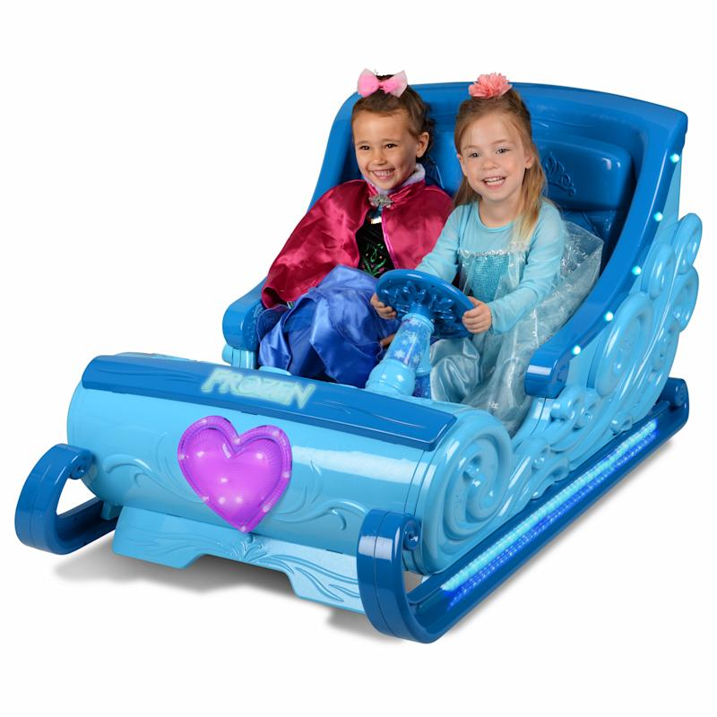 Disney Frozen Sleigh 12-Volt Battery Powered Ride. (Photo: Walmart)