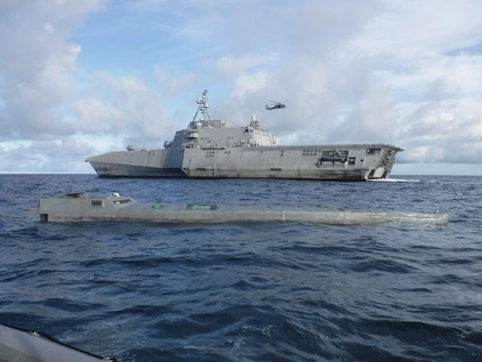 Navy LCS Gabrielle Giffords drugs narco sub