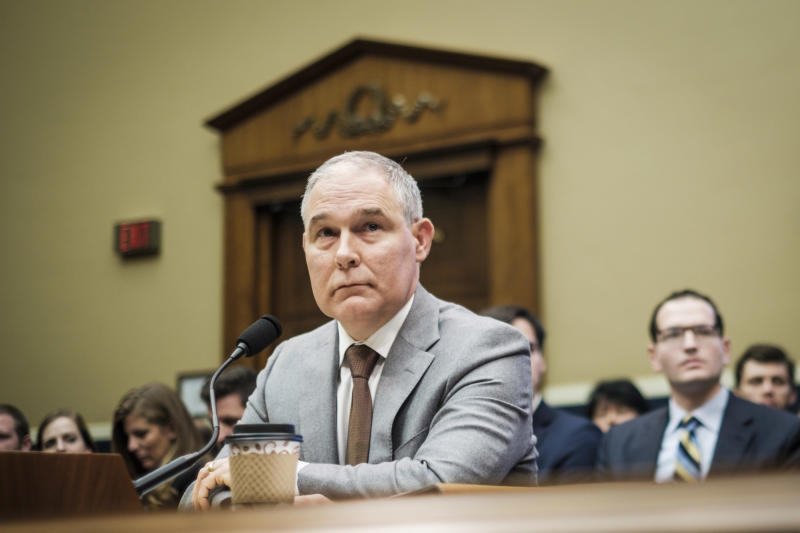 EPA Administrator Scott Pruitt testified before the House Energy and Commerce Committee about the mission of the agency on Dec. 7.  (Pete Marovich via Getty Images)