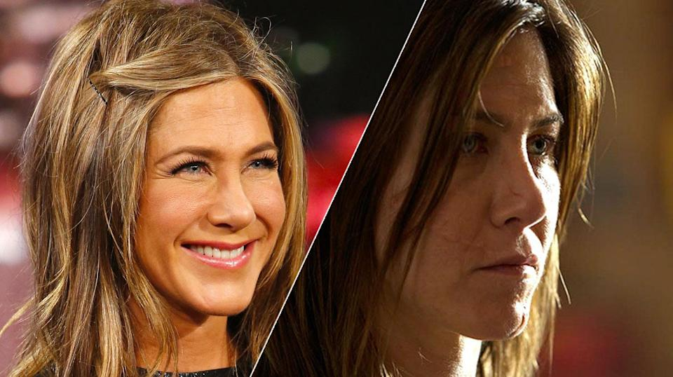 Jennifer Aniston was far from her usual glam self in <i>Cake</i>.