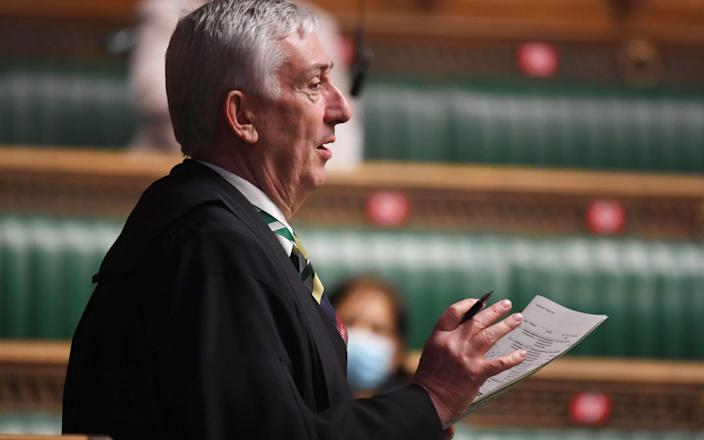Sir Lindsay Hoyle said the question was 'appropriate' - PA