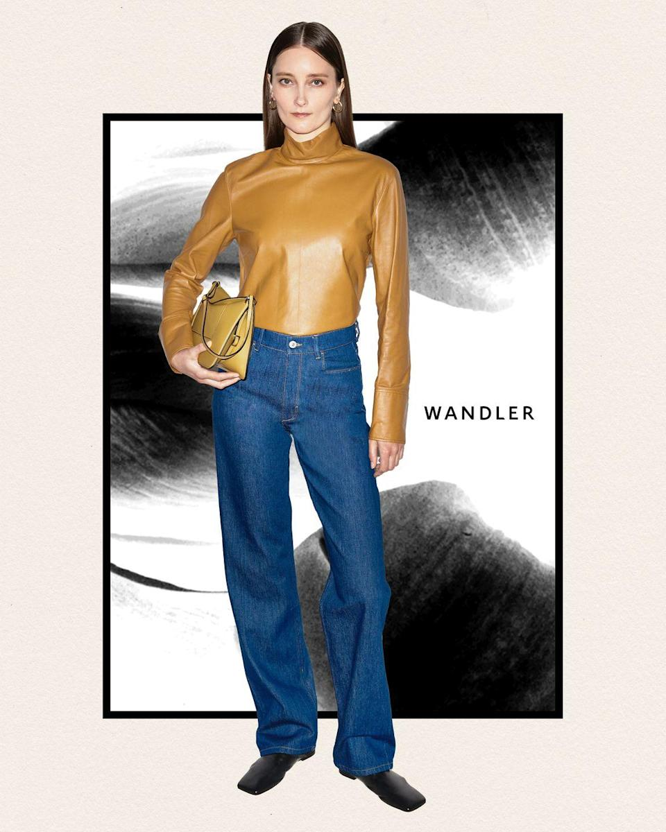 """<p><strong>Who:</strong> Wandler</p><p><strong>What:</strong> Denim and leather trousers </p><p><strong>Where: </strong>Available for pre-launch exclusively on Matchesfashion.com, before release with high-end retailers</p><p><strong>Why: </strong>Dutch designer Elza Wandler is expanding her brand's offering from just accessories to leather and denim trousers. Wandlers combines her love for leather goods and her early days cutting her teeth at Levi's for a minimalist offering of trousers in various colorways. The wide leg cuts and high waists harmonize perfectly with Wandler's minimal chic aesthetic that she's honed through her bags, shoes, and accessories. </p><p><a class=""""link rapid-noclick-resp"""" href=""""https://go.redirectingat.com?id=74968X1596630&url=https%3A%2F%2Fwww.matchesfashion.com%2Fus%2Fwomens%2Fdesigners%2Fwandler&sref=https%3A%2F%2Fwww.elle.com%2Ffashion%2Fshopping%2Fg37500051%2Fthe-launch-septembers-hottest-fashion-launches%2F"""" rel=""""nofollow noopener"""" target=""""_blank"""" data-ylk=""""slk:SHOP NOW"""">SHOP NOW</a></p>"""