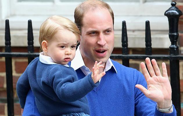 William (pictured with his son, Prince George) has shunned tradition. Photo: Getty