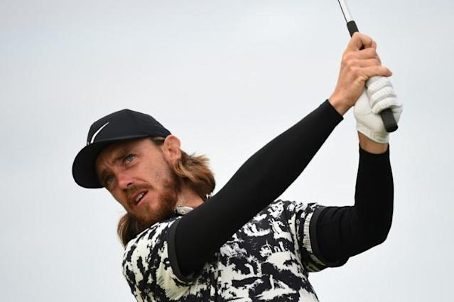 England's Tommy Fleetwood moved to seven under par with his second round at the British Open (AFP Photo/ANDY BUCHANAN )